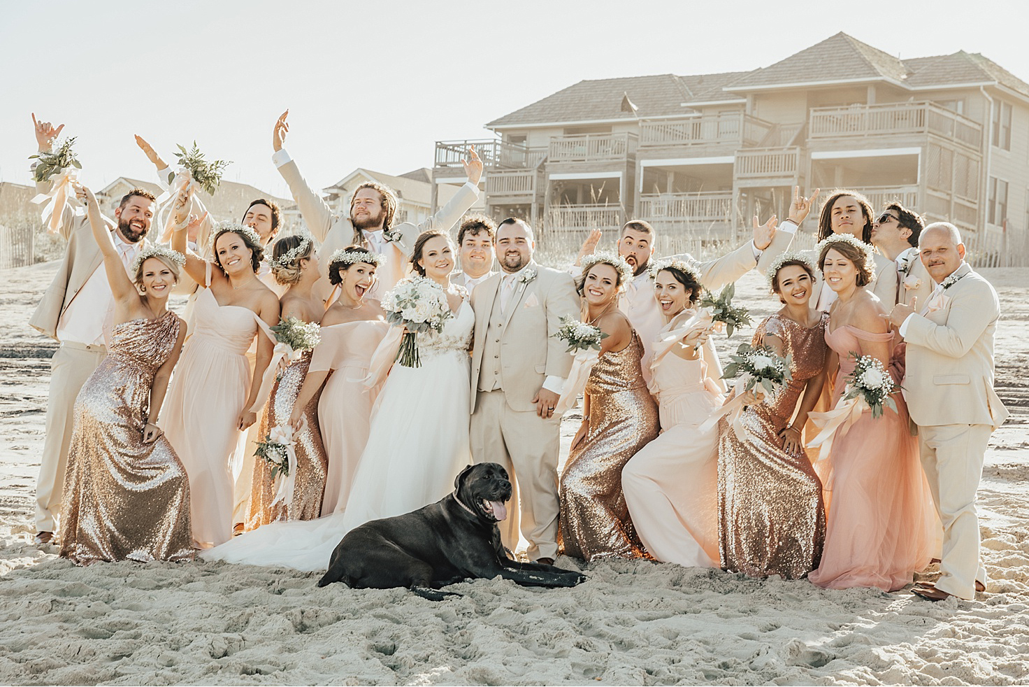 blushes, neutrals, and rose gold are the perfect combination for a high texture beach wedding! Who said sequins were not a neutral? Revelry certainly didn't.