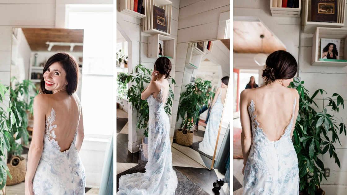 Adriana leopard martini asutin texas blogger fashion lifestyle blue wedding dress bridal gown tulle three different angles