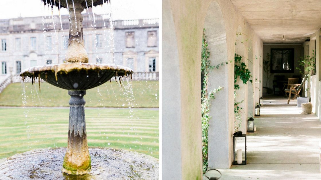 grounds of Irish estate for destination Real Revelry Wedding