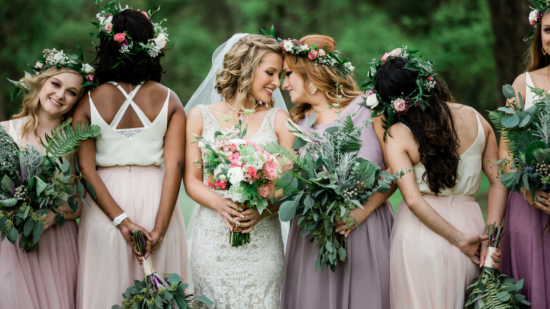 bridesmaids have the brides back which is exactly what you need on your wedding day.