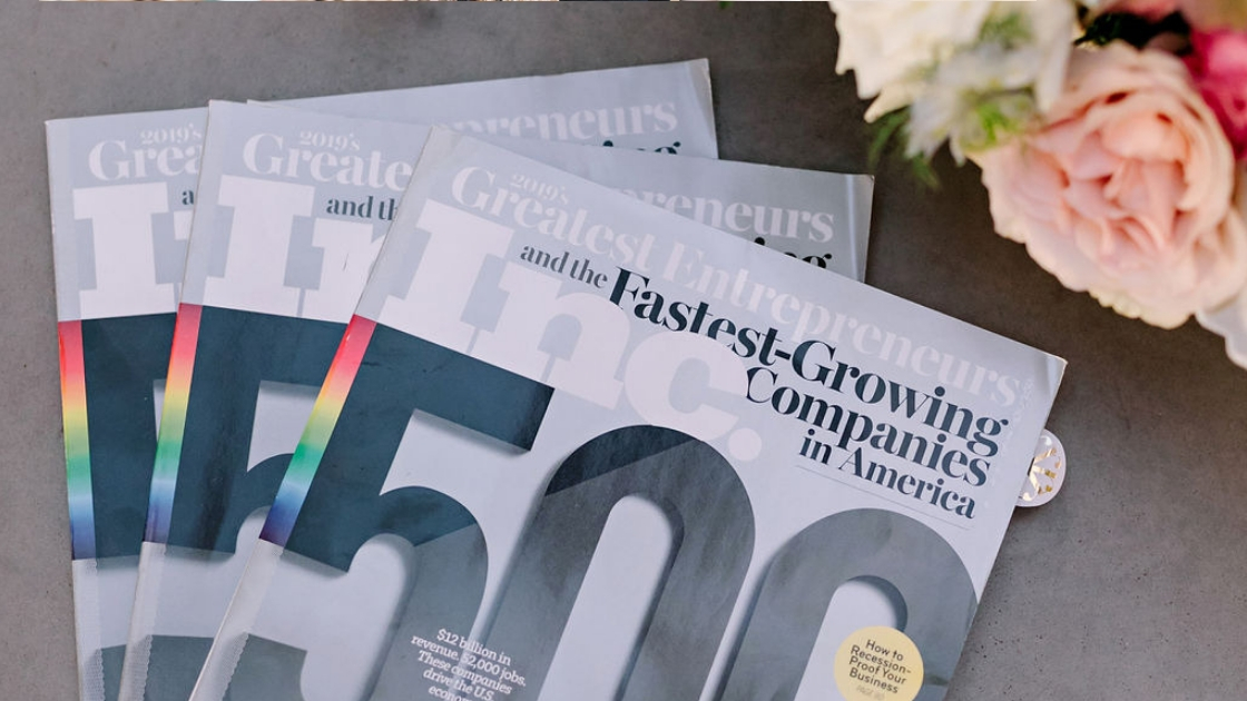Inc greatest entrepreneurs fastest growing companies in america magazine 2019 flat lay florals