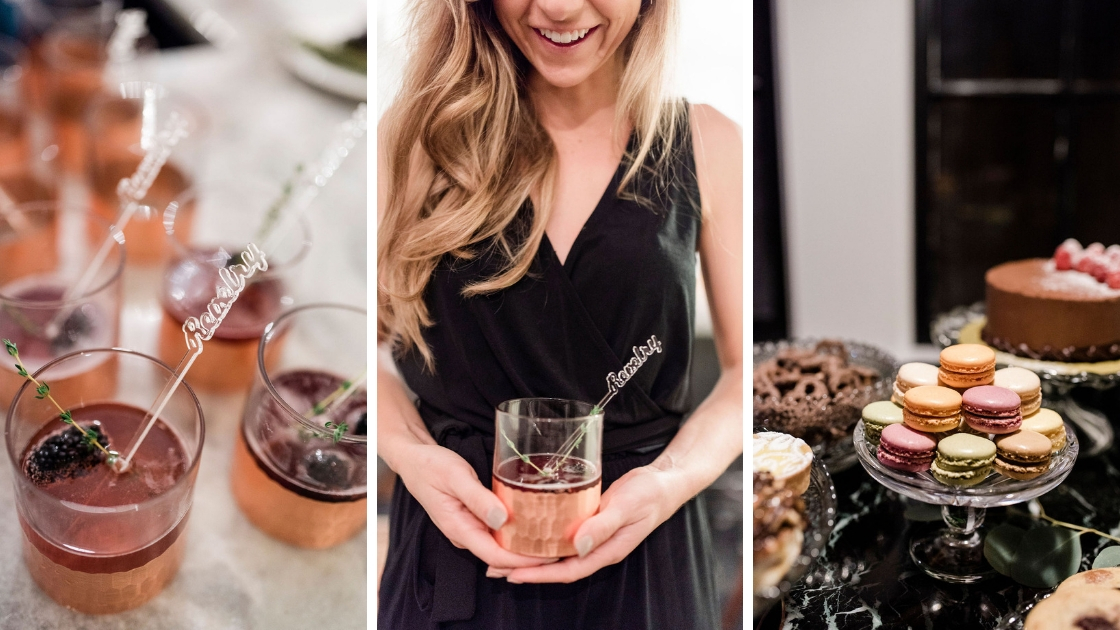 cute cocktails and cookies perfect for a pinterest try on party for texas brides and bridesmaids