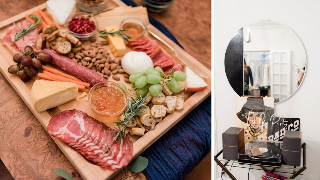 meat and cheese board perfect for hosting a gorgeous event