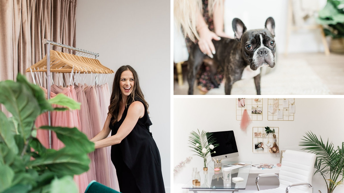 Michelle styling tulle outfits and stella the dog looking cute