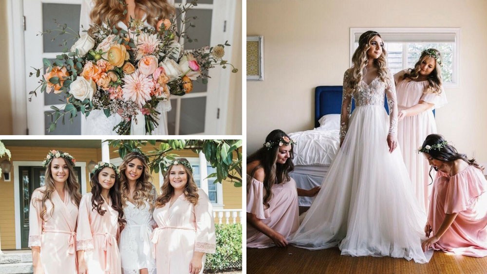 Boho elegance meets secret garden in this beautiful blush wedding once they put their flower crowns on they looked so angelic and dreamy i was in love with them on the wedding day they were my angels junglespirit Image collections