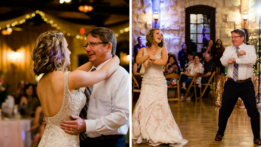 Bride and father in choreographed dance!