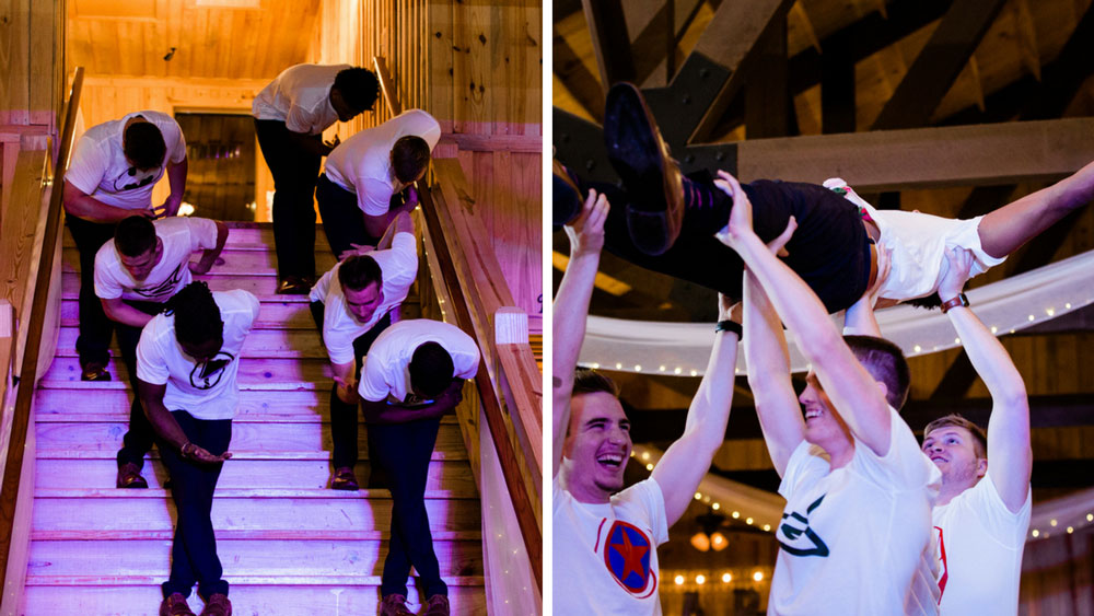 groomsmen got all the moves in this special dance at the reception.