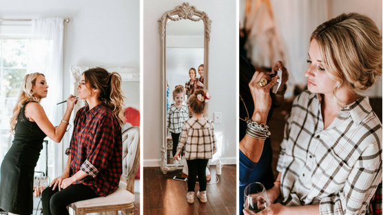 jojo fletcher and bff kathryn getting ready for the big day.