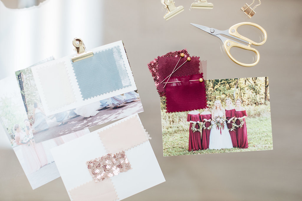 blue and burgundy color swatches with picture inspiration