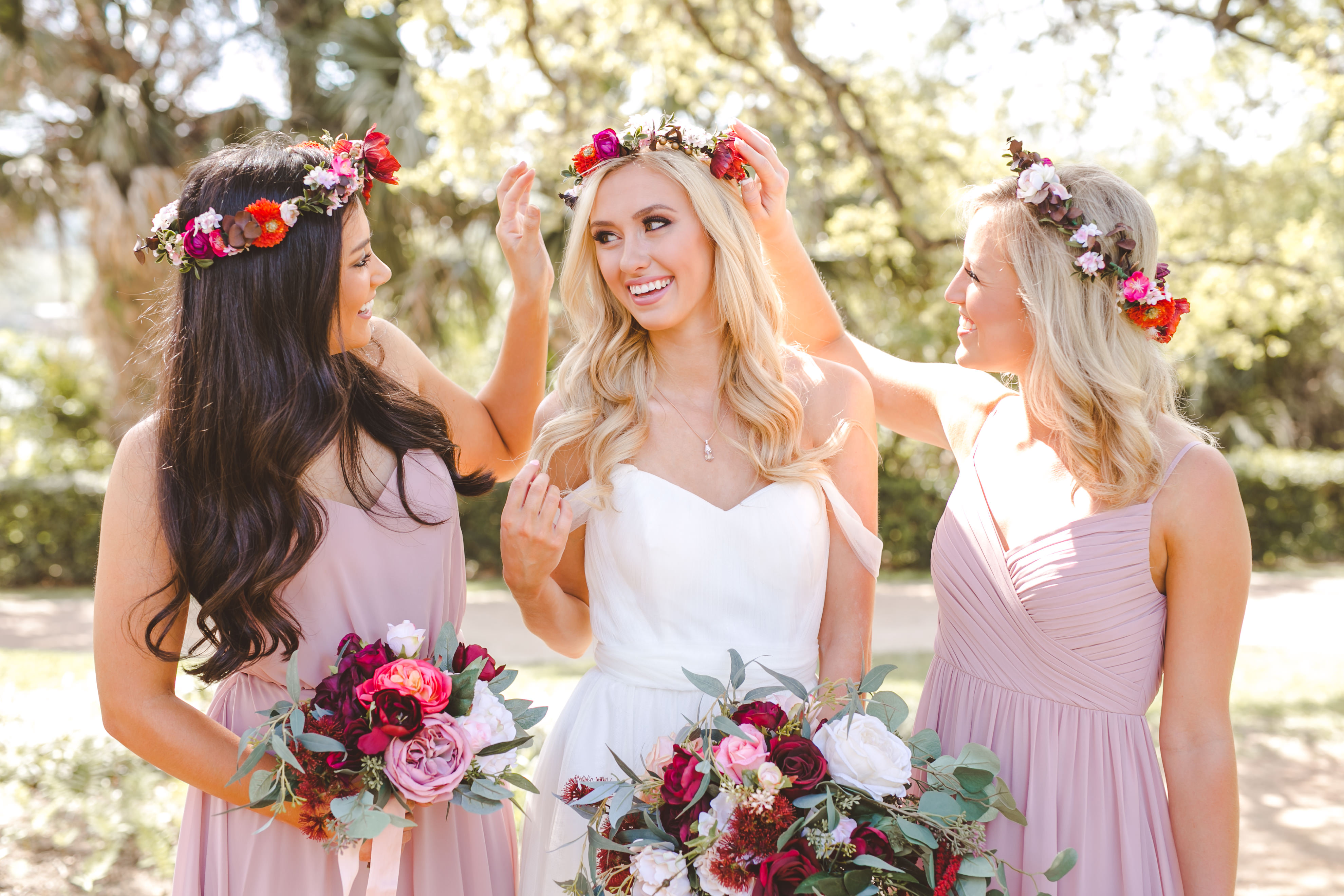 Your bridesmaids will thank you for the new flattering styles from Revelry.
